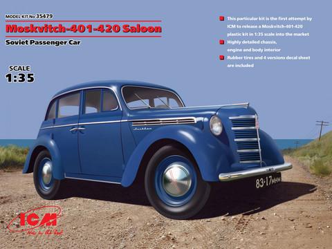 Moskvitch-401-420 Saloon, 1:35 (pidemmällä toimitusajalla)