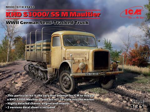 KHD S3000/SS M Maultier WWII German Semi-Tracked Truck, 1:35 (pidemmällä toimitusajalla)