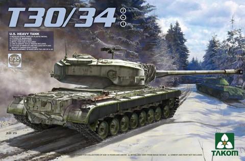 U.S. Heavy Tank T30/34 2 in 1, 1:35 (Pidemmällä toimitusajalla)