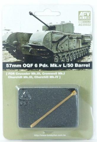 57mm OQF 6 Pdr. Mk.V L/50 Barrel, 1:35