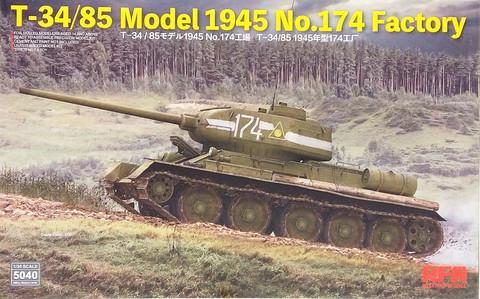 T-34/85 Model 1945 No.174 Factory, 1:35 (pidemmällä toimitusajalla)
