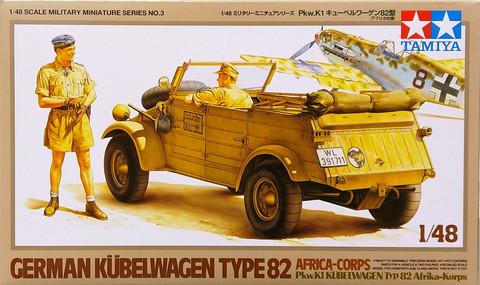 German Kübelwagen Type 82 Africa-Corps, 1:48 (pidemmällä toimitusajalla)
