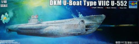DKM U-Boat Type VIIC U-552, 1:48 (Pidemmällä toimitusajalla)