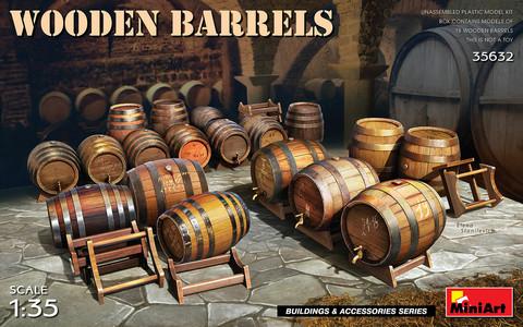 Wooden Barrels, 1:35