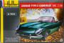 Jaguar Type E Cabriolet Starter Kit, 1:24 (sis. liiman, maaleja ja siveltimen)