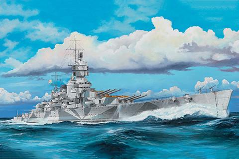 Italian Navy Battleship RN Vittorio Veneto 1940, 1:350 (pidemmällä toimitusajalla)