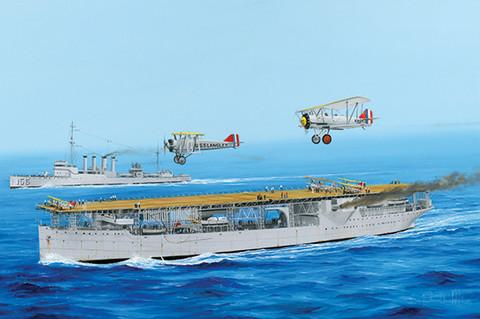 Aircraft carrier USS Langley CV-1, 1:350 (pidemmällä toimitusajalla)
