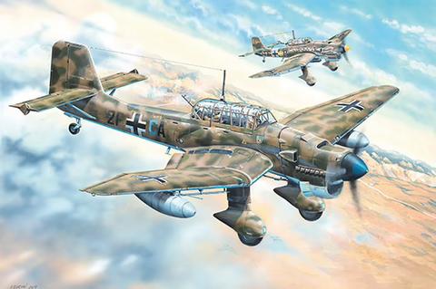ENNAKKOTILAUS Junkers Ju-87R Stuka, 1:24