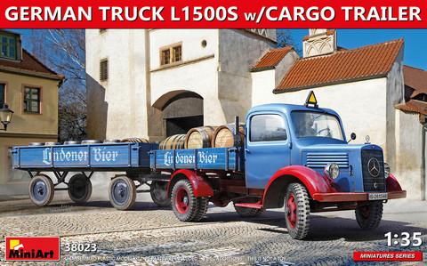 German Truck L1500S w/ Cargo Trailer, 1:35 (pidemmällä toimitusajalla)