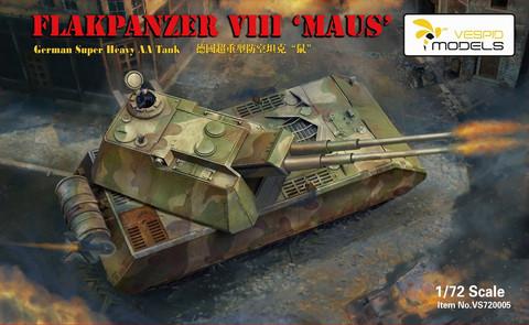 Flakpanzer VIII Maus German Super Heavy AA Tank, 1:72
