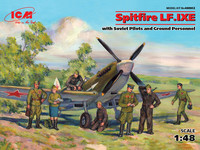 Spitfire LF.IXE with Soviet Pilots and Ground Personnel, 1:48