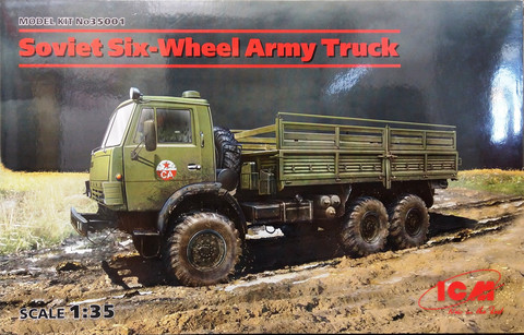 Soviet Six-Wheel Army Truck, 1:35 (sis. extraa)