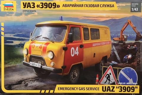 UAZ 3909 Emergency Gas Service, 1:43