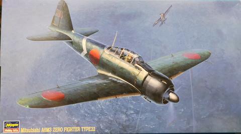 Mitsubishi A6M3 Zero Fighter Type 22, 1:48 (sis. Eduard etsit)