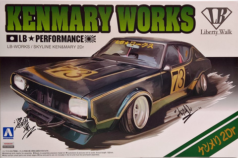 Nissan Skyline 2Dr. KenMary Works, 1:24 (pidemmällä toimitusajalla)