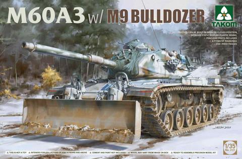 M60A3 w/ M9 Bulldozer, 1:35 (Pidemmällä toimitusajalla)