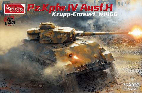 Panzer IV Ausf.H Krupp Entwurf W1466, 1:35 (Pidemmällä toimitusajalla)