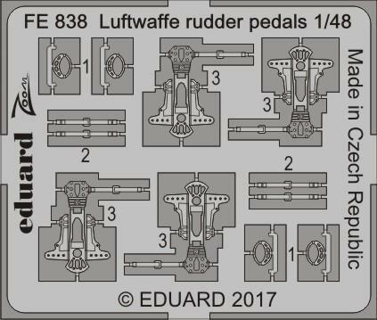Luftwaffe Rudder Pedals, 1:48