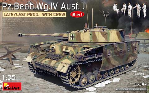 Pz.Beob.Wg.IV Ausf. J Late/Last Prod. 2 in 1 w/Crew, 1:35 (pidemmällä toimitusajalla)