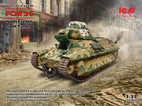 FCM 36, WWII French Light Tank, 1:35
