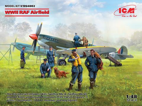 WWII RAF Airfield, 1:48 (Pidemmällä Toimitusajalla)