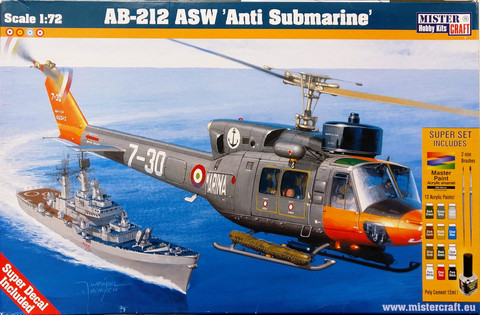 Augusta AB-212 ASW Anti Submarine, 1:72