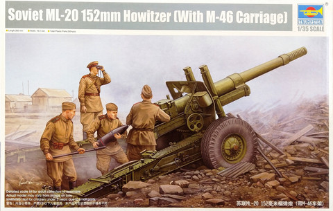 Soviet ML-20 152mm Howitzer with M-46 Carriage, 1:35
