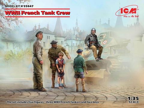 WWII French Tank Crew, 1:35 (pidemmällä toimitusajalla)
