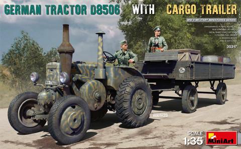 German Tractor D8506 with Cargo Trailer, 1:35 (Pidemmällä Toimitusajalla)