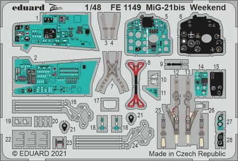 MiG-21Bis Photoetch (for Eduard), 1:48