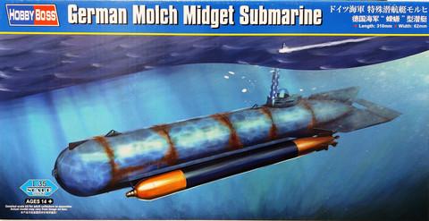 German Molch Midget Submarine, 1:35
