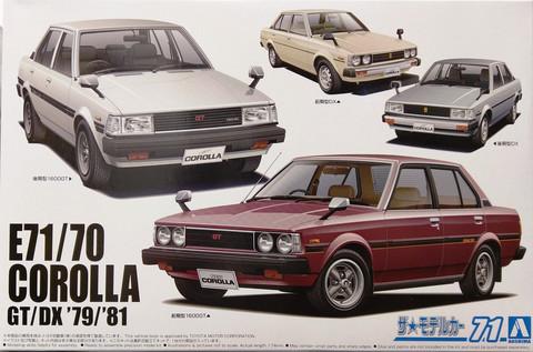 Toyota Corolla GTDX '79'81, 1:24 (pidemmällä toimitusajalla)