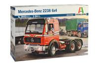 Mercedes Benz 2238 6x4, 1:24 (pidemmällä toimituksella)