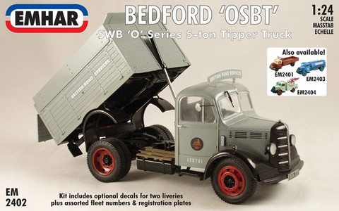 Bedford OSBT, SWB Tipper, 1:24 (pidemmällä toimituksella)