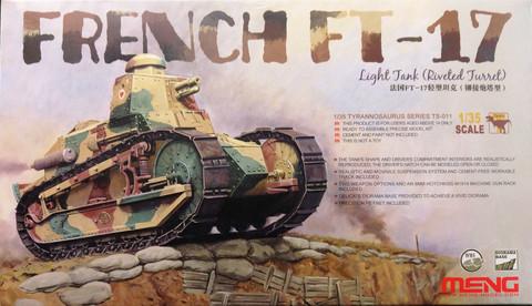 French FT-17 (Riveted Turret), 1:35 (pidemmällä toimitusajalla)