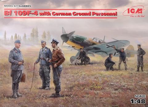 Bf 109F-4 with German Ground Personnel, 1:48 (pidemmällä toimitusajalla)