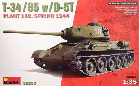 T-34/85 w/ D-5T Plant 112 Spring 1944, 1:35