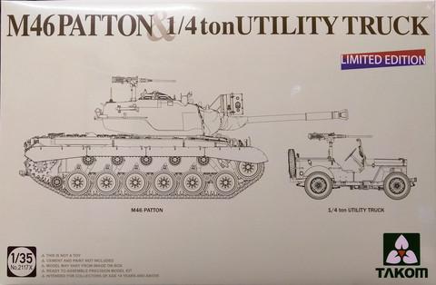 M46 Patton & 1/4 ton Utility Truck, 1:35 (pidemmällä toimitusajalla)