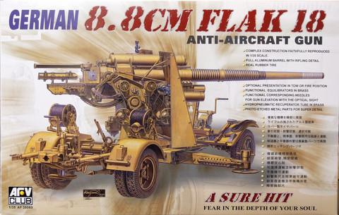 German 8,8cm Flak 18 Anti-Aircraft Gun, 1:35 (pidemmällä toimitusajalla)