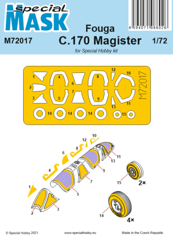 Fouga C.170 Magister Masks, 1:72