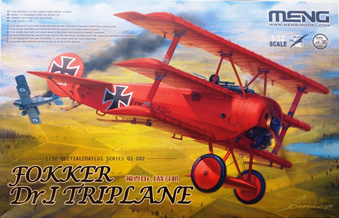 Fokker Dr.I Triplane, 1:32 (pidemmällä toimitusajalla)