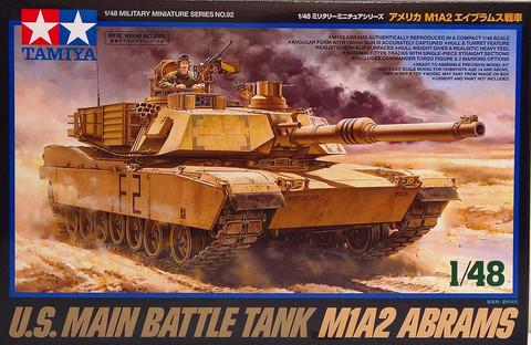 U.S. Main Battle Tank M1A2 Abrams, 1:48 (pidemmällä toimitusajalla)