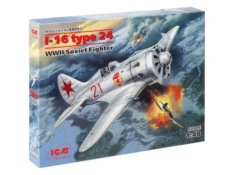 I-16 Type 24 WWII Soviet Fighter, 1:48 (pidemmällä toimitusajalla)