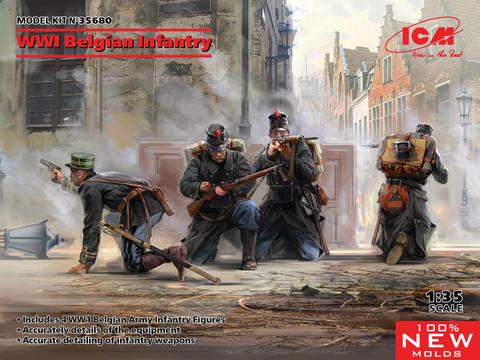 WWI Belgian Infantry, 1:35 (Pidemmällä Toimitusajalla)