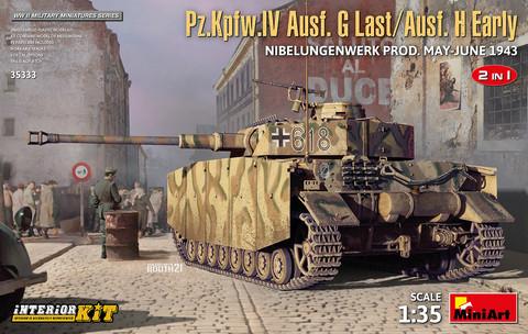Pz.Kpfw.IV Ausf.G-Last/H-Early Nibelungenwerk Production, 1:35 (Pidemmällä Toimitusajalla)