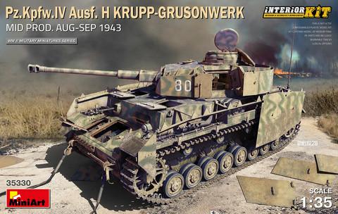 Pz.Kpfw.IV Ausf. H Krupp-Grusonwerk. Mid Prod. (Aug-Sep 1943) Interior Kit, 1:35