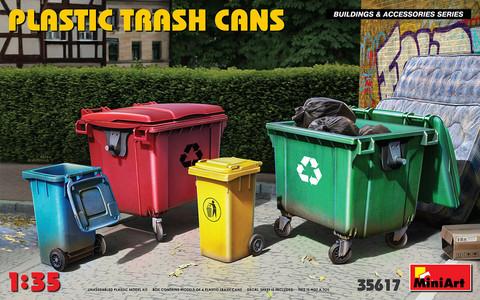 Plastic Trash Cans, 1:35