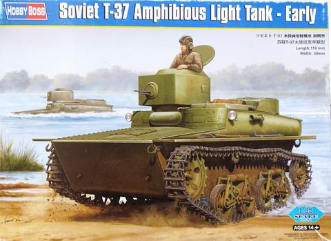Soviet T-37 Amphibious Light Tank (Early), 1:35
