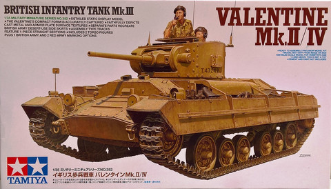 British Infantry Tank Mk.III Valentine Mk.II/IV, 1:35
