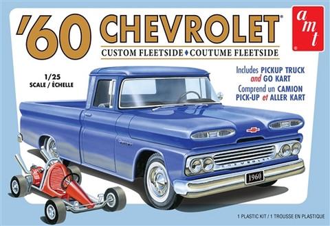 1960 Chevy Custom Fleetside Pickup w/ Go Kart, 1:25 (Pidemmällä Toimitusajalla)